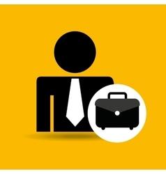 Man silhouette business and portfolio folder vector