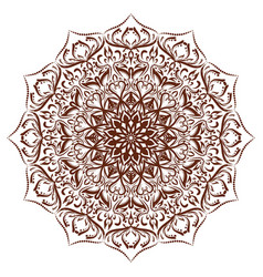 Mandala floral ornament vector