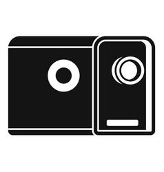 media film projector icon simple style vector image