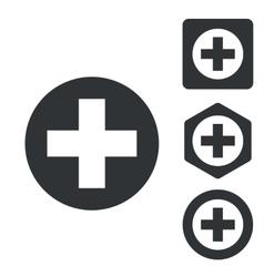Medical icon set monochrome vector