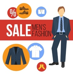 Men Fashion Clothes Sale vector image
