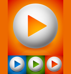 modern play button images with 4 color vector image