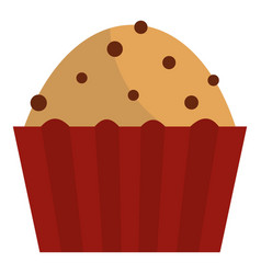 Muffin with raisins icon isolated vector
