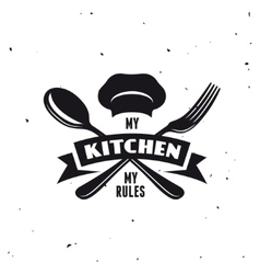 My kitchen rules lettering poster vintage vector
