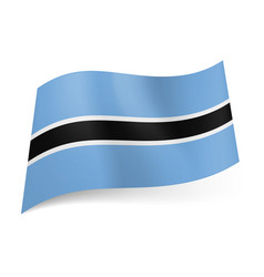 National flag of botswana white outlined vector
