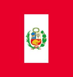 National peru flag vector