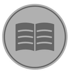 open book silver coin vector image