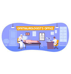 ophthalmologists office indoor composition vector image