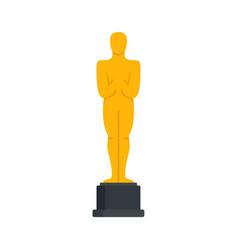 Oscar statue icon flat style vector