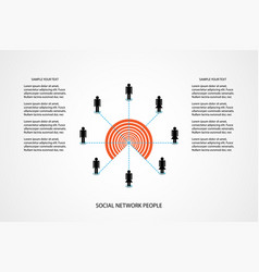 People network concept marketing communicate vector