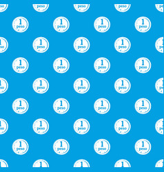 Peso pattern seamless blue vector