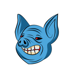 pig handrawn vector image