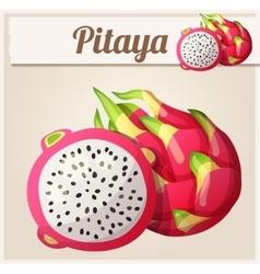Pitaya Dragon fruit fruit Cartoon icon vector image