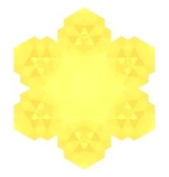 Polygonal Yellow Symbol vector image
