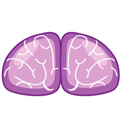 purple brain sign in world alzheimers day theme vector image