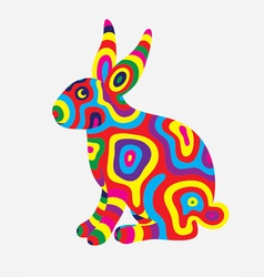 Rabbit colorfully vector image