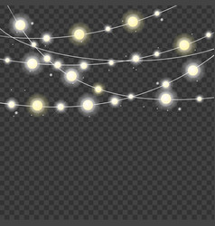 realistic 3d detailed christmas lights strings vector image