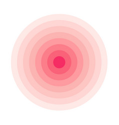 Red concentric rings epicenter theme simple flat vector
