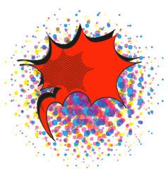 red explosive comic pop art speech bubble vector image