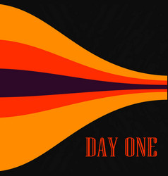 red orange lines on black cover print bended vector image