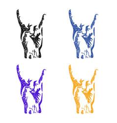 rock symbol sketch vector image
