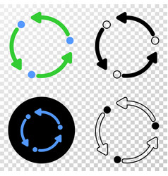 rotation arrows eps icon with contour vector image