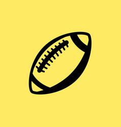 rugball line icon football american vector image