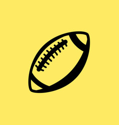 Rugby ball line icon football american vector