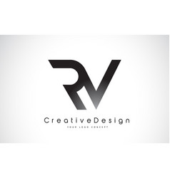 Rv r v letter logo design creative icon modern vector