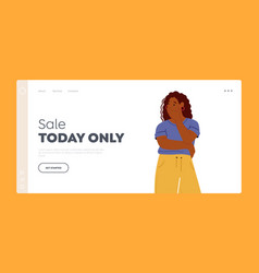 sale today only landing page template doubtful vector image