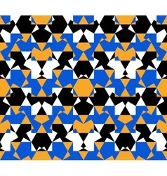 Seamless pattern abstract honeycomb mosaic vector image