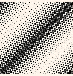 seamless pattern with halftone transition effect vector image