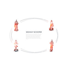 segway scooters - businessman vector image