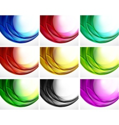 Set of swirl backgrounds vector image
