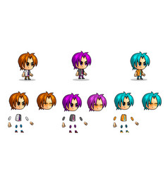 small boy character character kit vector image