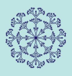 snowflake sign 2511 vector image