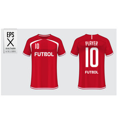 soccer jersey or football kit template design vector image