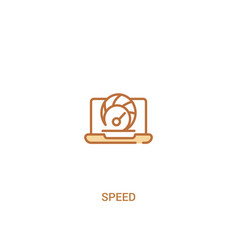 Speed concept 2 colored icon simple line element vector