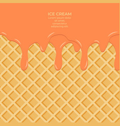 Sweet colour glaze on wafer texture sweet food vector