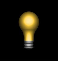 symbol innovation light bulb in darkness vector image
