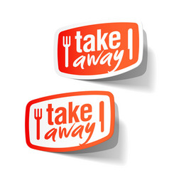 takeaway labels vector image