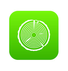tree ring icon digital green vector image