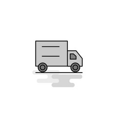 truck web icon flat line filled gray icon vector image