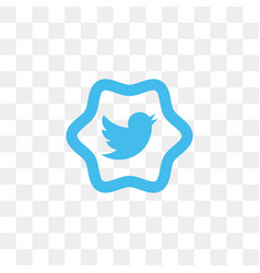 twitter social media icon design template vector image