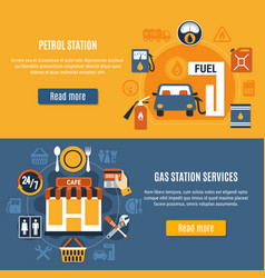 two fuel pump banner set vector image