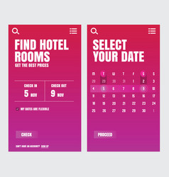 ui design application hotel vector image