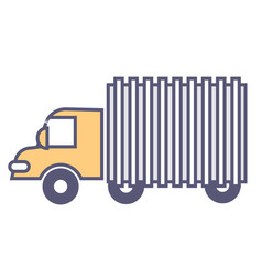 van or truck moving loads logistics services vector image