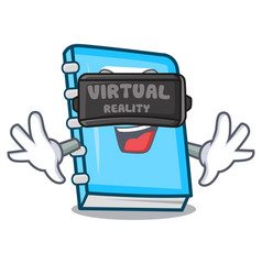 Virtual reality education mascot cartoon style vector