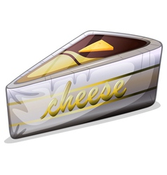 A cheese in a metallic container vector image vector image