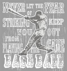 baseball fear strike vector image vector image